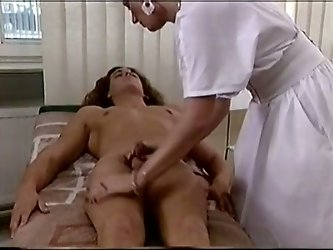 Watch this perverted jerk getting his cock sucked by his nurse in the hospital in The Classic Porn sex clips.