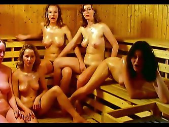 These young and sexy girls in the sauna are naked and in the mood for kinky stuff. They can even share a dick if there is a lucky guy for that!