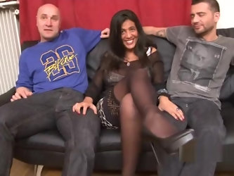 Sarah French Arab Jewish Threesome Huge Tits + Double Vaginal + Tittyfuck