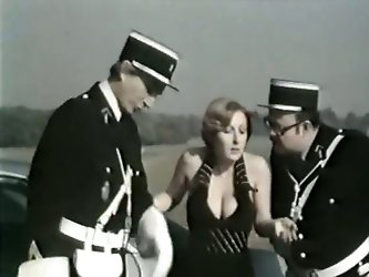 Watch this kinky and horny blonde fresh babe getting her tight and wet pussy penetrated by the police officer's large and fat cock.