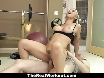 TheRealWorkout - Hot Milf Fucks Fitness Client