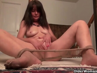 American milfs, Lani Lee, Shelby and Amanda are masturbating at home, in front of the camera