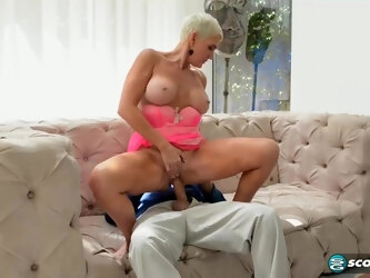 Lexy is a real cougar and likes to fuck men as often as it is possible