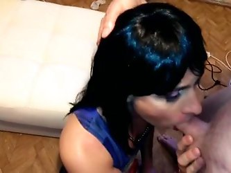 Crossdresser pounded by two tops