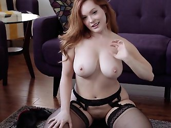 Chubby Redhead POV JOI gf in lingerie