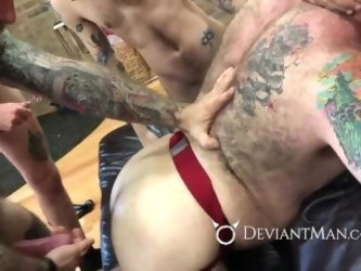 Muscle Bear Breeding Orgy