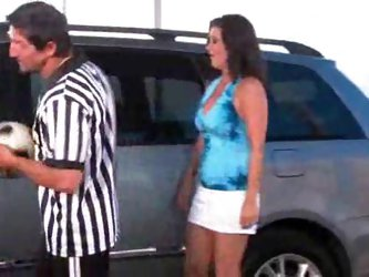 Slutty soccer mom fucked in minivan