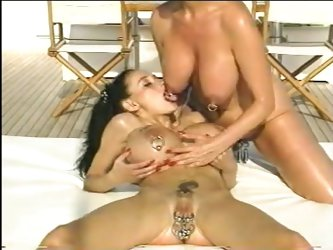 Extreme pierced ass fisting lesbians outdoor sex action