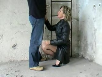 For fifty euros that blonde hooker fro Germany gave me a blowjob. Slut was sitting on her knees polishing my prick with her mouth.