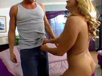 Her enormous tits make him horny as hell