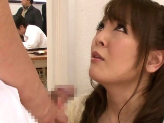 Mega Busty Japanese MILF hunts for sex at the lecture.......