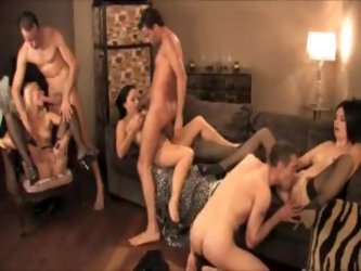Birthday party becomes a swinging orgy