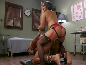 When this dominatrix doctor can't find out what ails her patient, she has to get creative and use unorthodox methods. She pegs him, slaps his ass