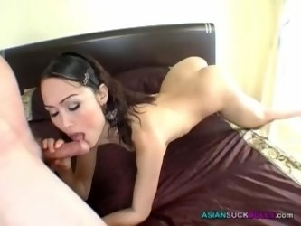 Raw Asian mouth sucking foreigner flesh