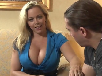 MILF Stepmom Enjoys the Young Stepson