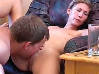 Kinky bitch Liza and her lover are playing dirty games indoors. The girl gives head to the stud and lets him eat her pussy and drill it.